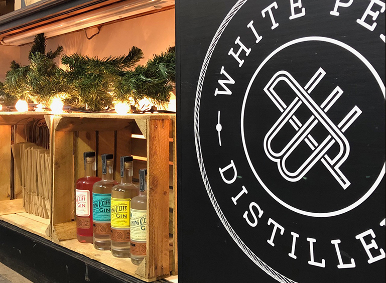 The White Peak Distillery pop up shop in Ambergate, Derbyshire is open for business