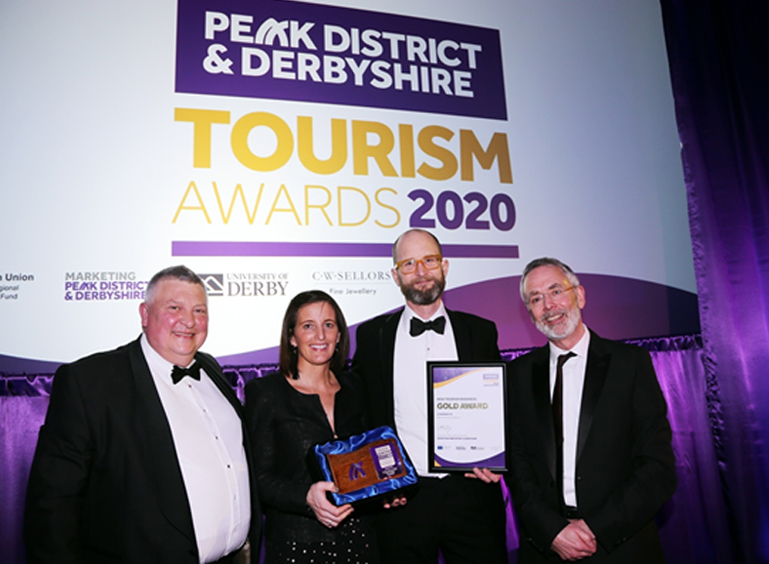 Husband and wife team, Claire and Max Vaughan are celebrating after White Peak Distillery won the New Tourism Business Award in the 2020 Peak District & Derbyshire Tourism Awards.